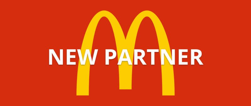 New partnership with McDonalds