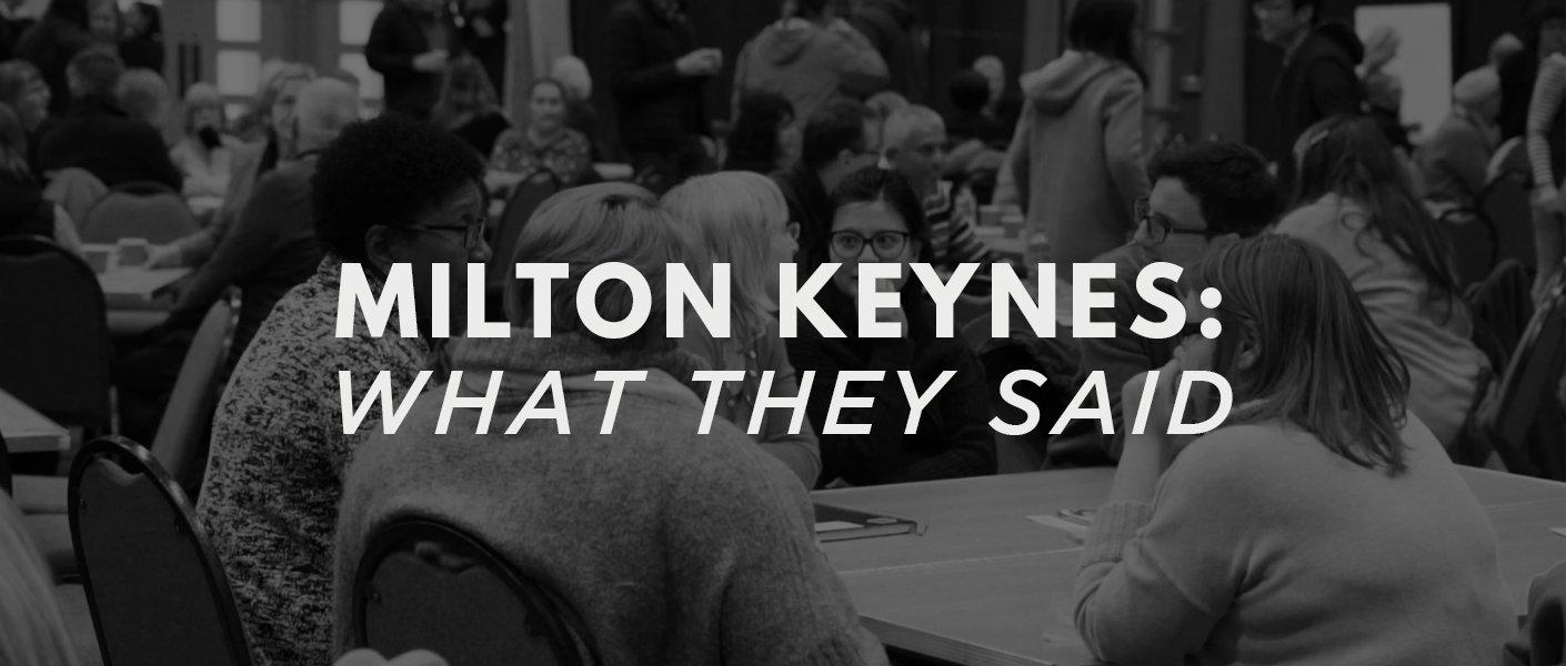 MILTON KEYNES: Community Conversations